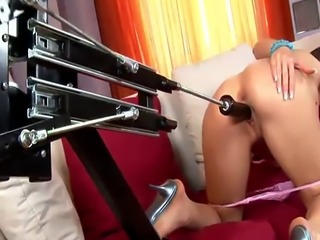 Stunning Aletta Ocean and a fuck machine
