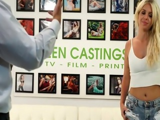 Tattooed amateur hardfucked at sex casting