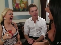 Tiffany Kingston is the definition of busty and she loves FFM threesomes