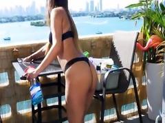 Latina Maid tries something new