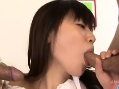 Schoolgirl, Ryo Asaka, craves for sex with these lads