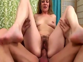 Slutty mature bitch has her twat plowed