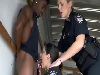 Cops gets mouth and cunts filled by black cock