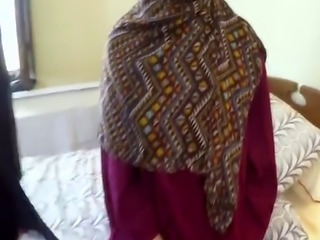 Bootylicious Arab wife sold her shaved sweet pussy with her husband na