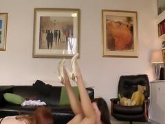 Stockings mature fingers