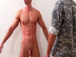 Muscled Gay Troops Strips And Fuck In Front Of Their Instructor