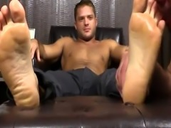 Men jacking off on their own feet and his cock hung down leg movie gay