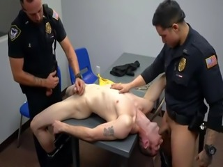 Gay police spanking boys guys video clips and beautiful cops cock Two