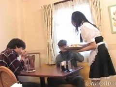 Submissive Japanese Maid Pleasing Clients Part1