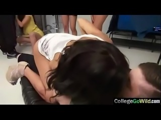 Naughty Wild Girls (caroline &amp_ chloe) In Group College Sex Act vid-14