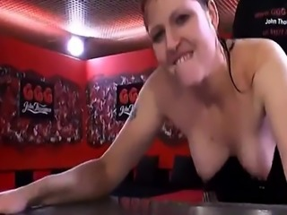 European slutty babe drinks piss and blows rods