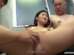 Ami Maeshima is a sexually adventurous slut and she loves group sex a lot