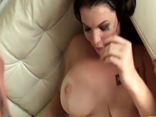 Squirting UK sub analfucked while toying clit