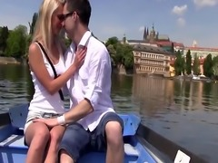 Sara J enjoys sex on a boat
