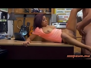Sexy babe screwed by pervert pawn keeper at the pawnshop