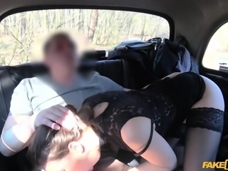 This classy woman would have never thought that she could be so naughty, getting seduced by this taxi driver. Her lovely body and sexy lingerie turned him on so much, along with her hard deepthroating, that he really needs to be inside her now and fuck her pussy raw, until they both cum hard