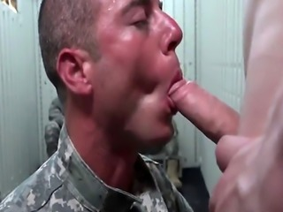 Military gay guys sucking and pounding in group