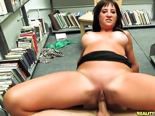 Brunette with big melons and bald snatch parts