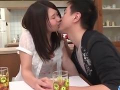 Sanae Akino blows hubby before going to work