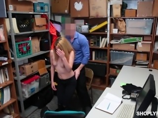 Alexa Raye bends over for a handsome man's erected cock