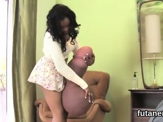 Frisky sweeties drill the biggest strap dildos and spray eja