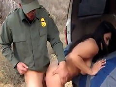 Black cock cop Stunning Mexican floozie Alejandra Leon tries to help h