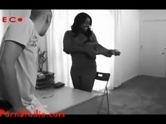 Casting big tit chubby black girl creampie