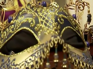 Swingers having sexy masquerade in reality show