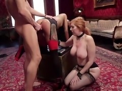 Gorgeous subs Nikki Darling and Lauren Phillips demonstrate just how eager...