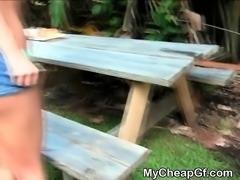 Blonde Khloe Kapri Doggystyle Outdoors
