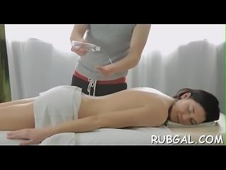 Massage with glad ending