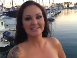 Brunette Huge Tit Big Booty Babe Fucks Huge Cock