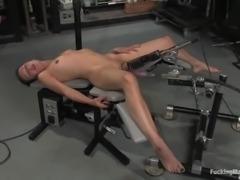 Slim Cali gets her juicy vagina drilled by a machine