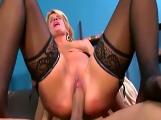 Dirty Mature Blonde In Stockings