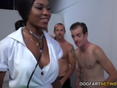 hot ebony nurse nadia bukkaked
