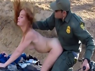 Teen tied and made orgasm Border Hopping Redhead Loves Cock