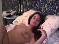 Retro young lesbians filmed strapon fucking