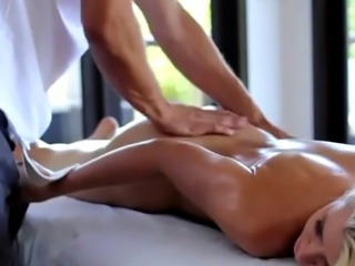 Blonde Anikka Albrite Sucking Dick On A Portable Massage Table