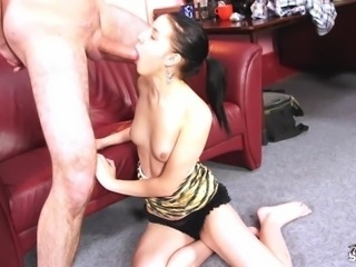 Fakeshooting - Brunette pass fake casting great