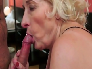 Busty granny fucked hard after cocksucking