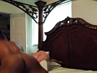 BIG BOOTY LIGHT SKIN EBONY FUCKED AND SWALLOWING CUM
