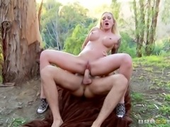 Cheating wife finds her stud in the woods and fucks his brains out