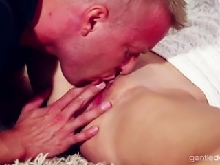 Neat babe Laura Costina definitely loves passionate and romantic sex sessions