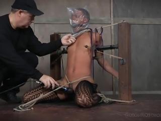 cute ebony slave must endure the pain