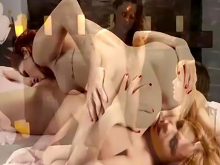 Lesbian babe Blair and Gina tribbing their wet pussies