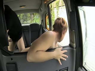 Little slut sucks off cock instead of paying the fare