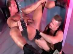 Fisting tranny gay twinks Brian Bonds wastes no time oiling up his