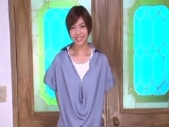 Short haired Japanese hottie moans with pleasure as her beaver gets plowed