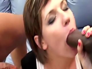 Kinky interracial threesome starring Gwen Vaughn