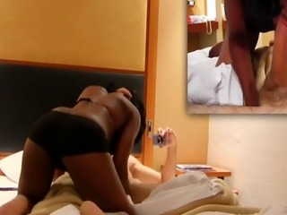 One more thrust and her tight African pussy is about to explode